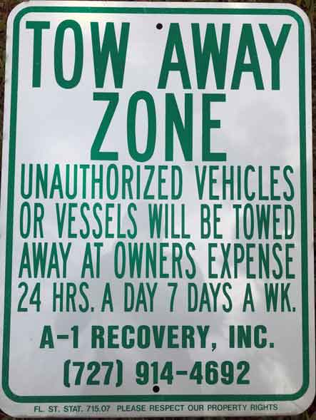 free towing sign
